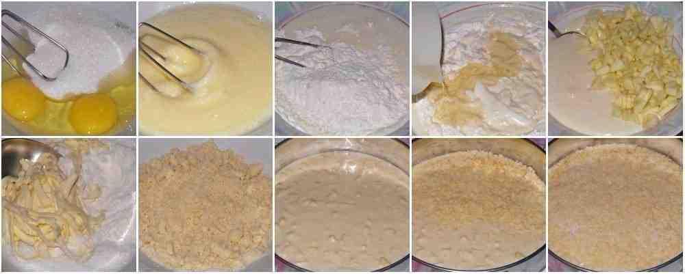 пирог с яблоками процесс