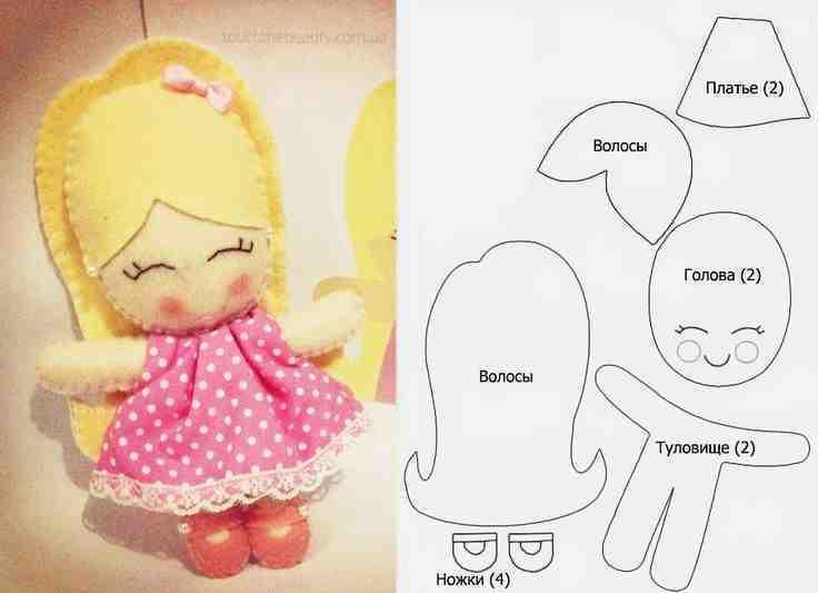 Куклы из фетра своими руками с выкройками для начинающих