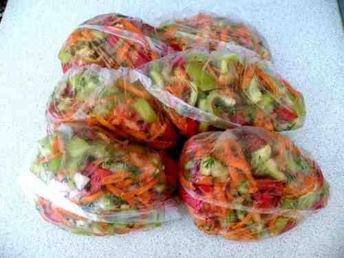 заморозка овощей на гарнир