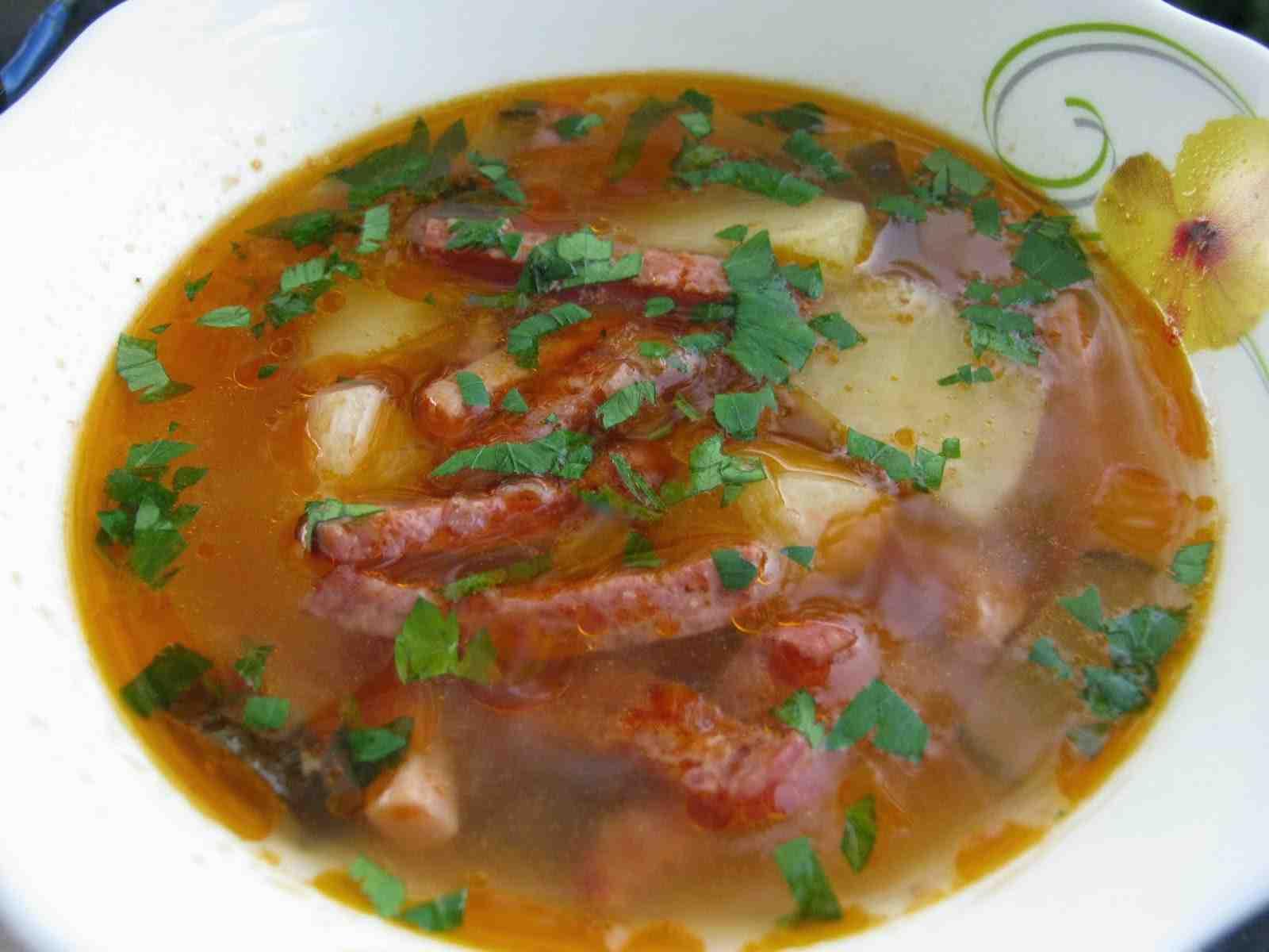 Рецепт пошаговый с фото суп с колбасками 8