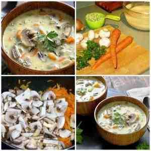 суп с рисом и грибами рецепт