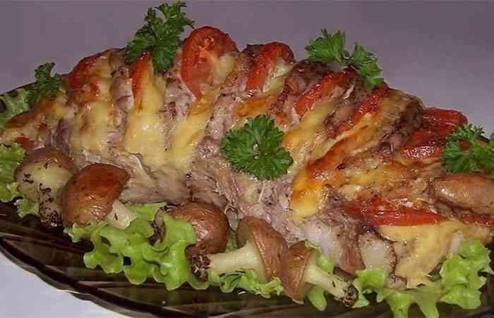 мясо гармошка рецетп