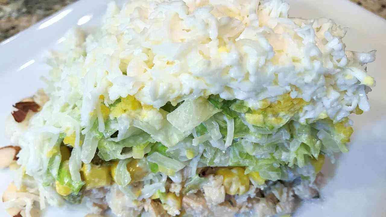 Салат невеста с капустой