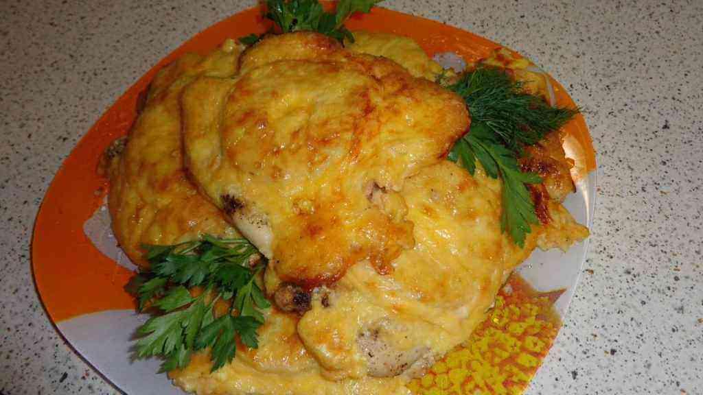 Куриные отбивные с сыром рецепт