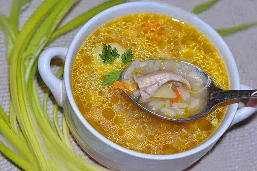Суп с рисом и яйцом