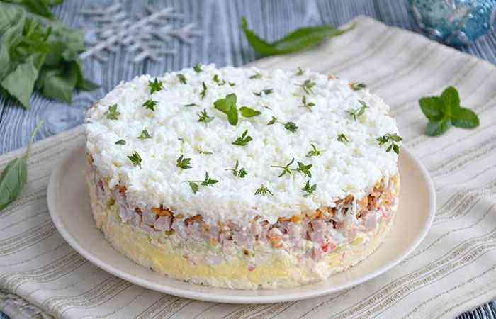 Снежная королева салат